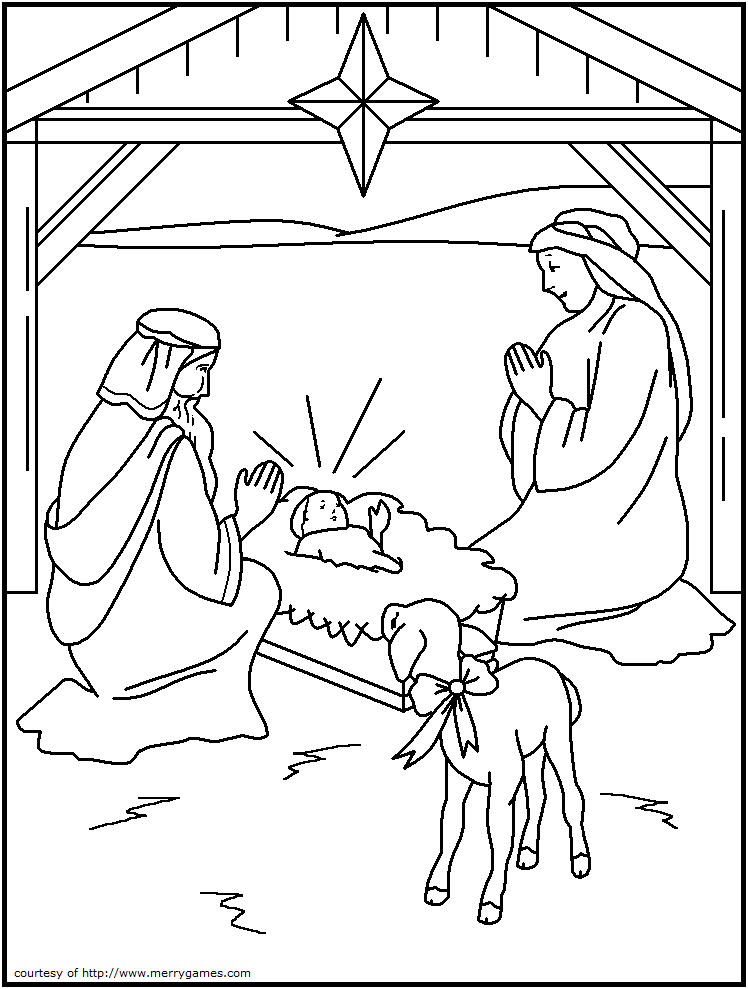 free printable christmas coloring pages religious - Nativity Coloring Pages For Kids