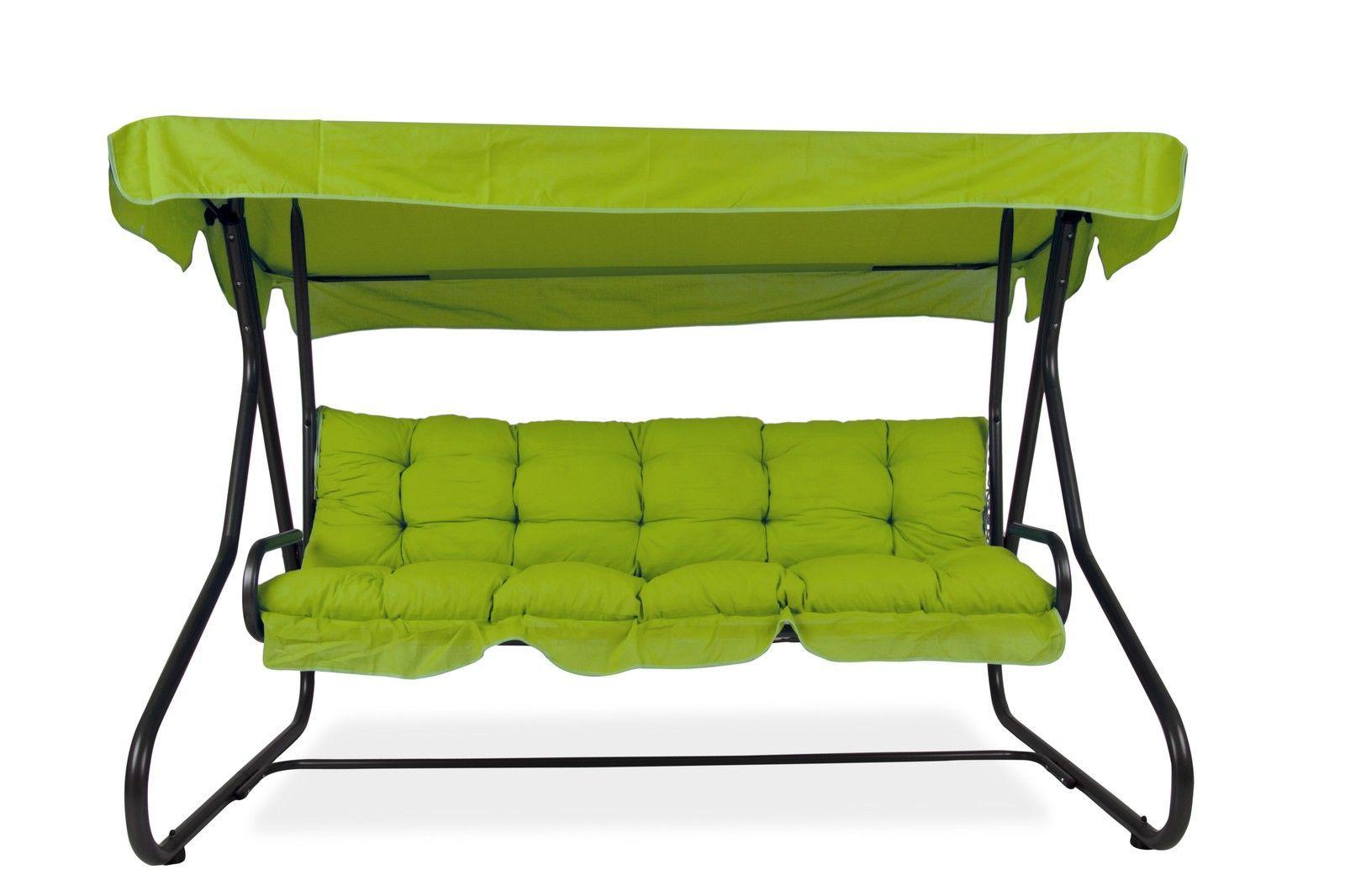 3-sitzer hollywoodschaukel milano mit sonnendach und auflagen-set f