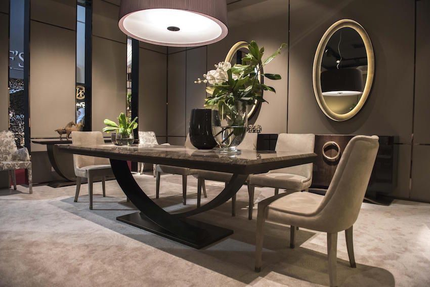 13 modern dining tables from top luxury furniture brands ev pinterest esszimmer esszimmer. Black Bedroom Furniture Sets. Home Design Ideas
