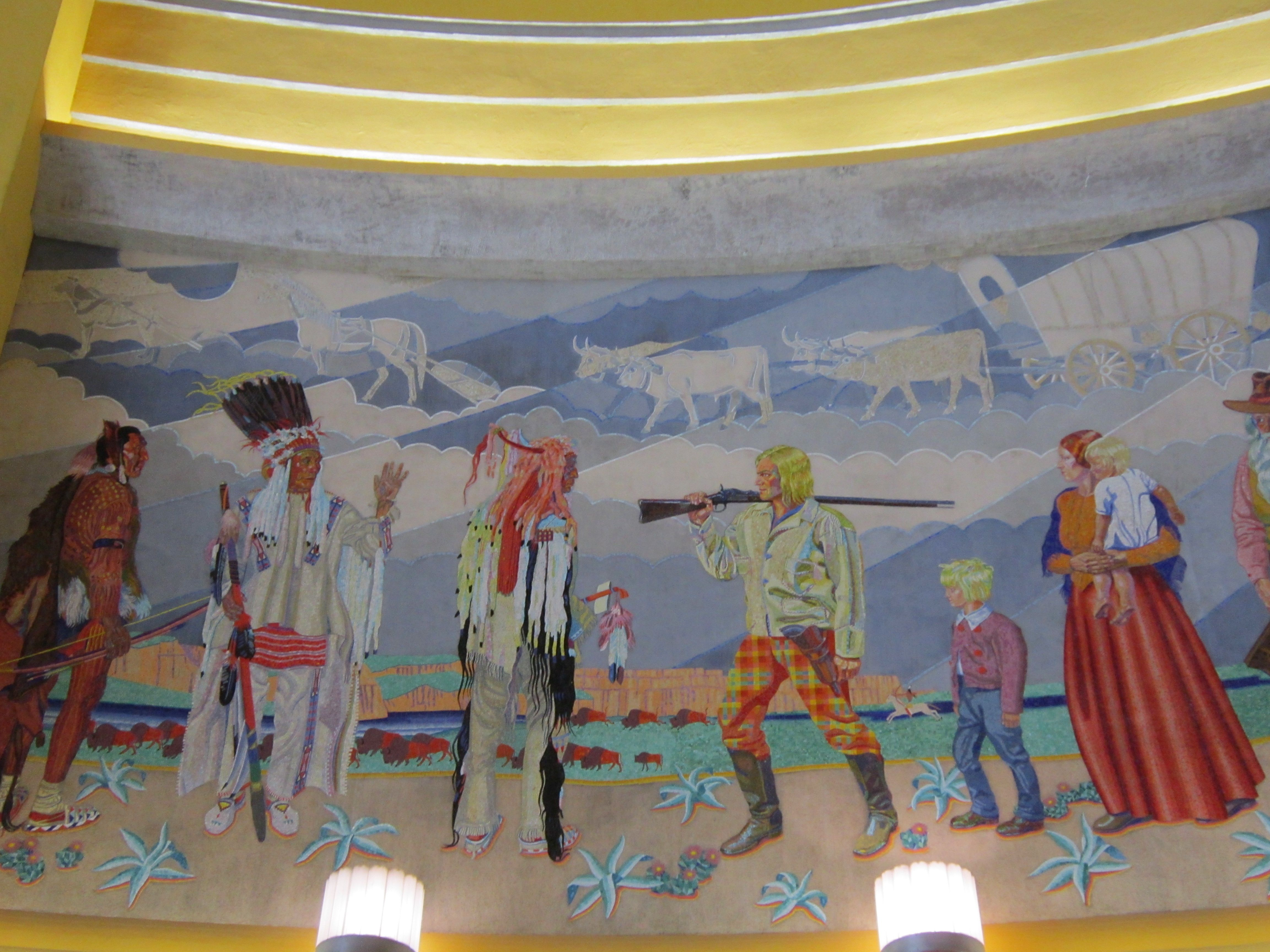 mosaic murals at the Cincinnati Museum Center - previous