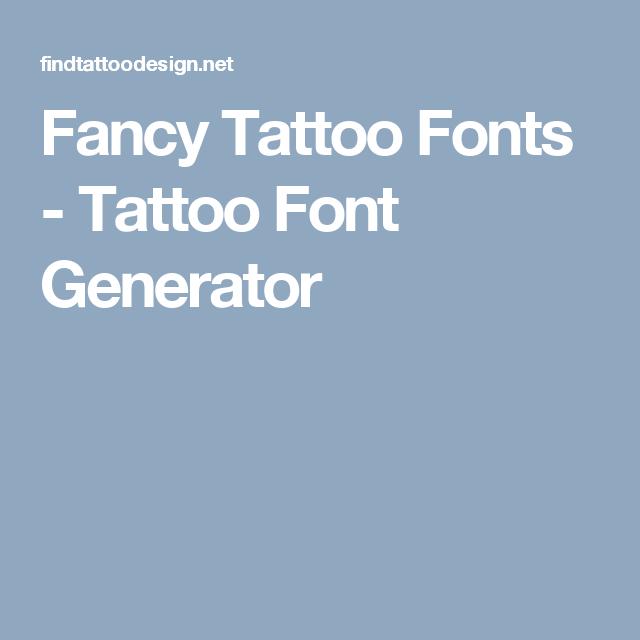 Fancy Script Tattoo Generator: Fancy Tattoo Font Generator