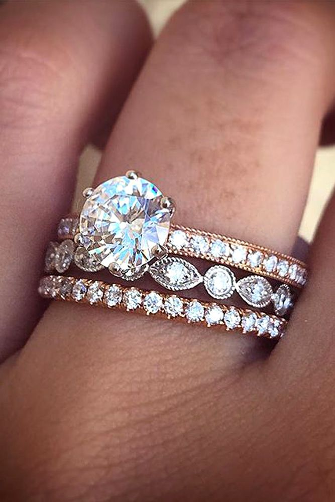 36 Utterly Gorgeous Engagement Ring Ideas Gold Diamond Wedding BandPear