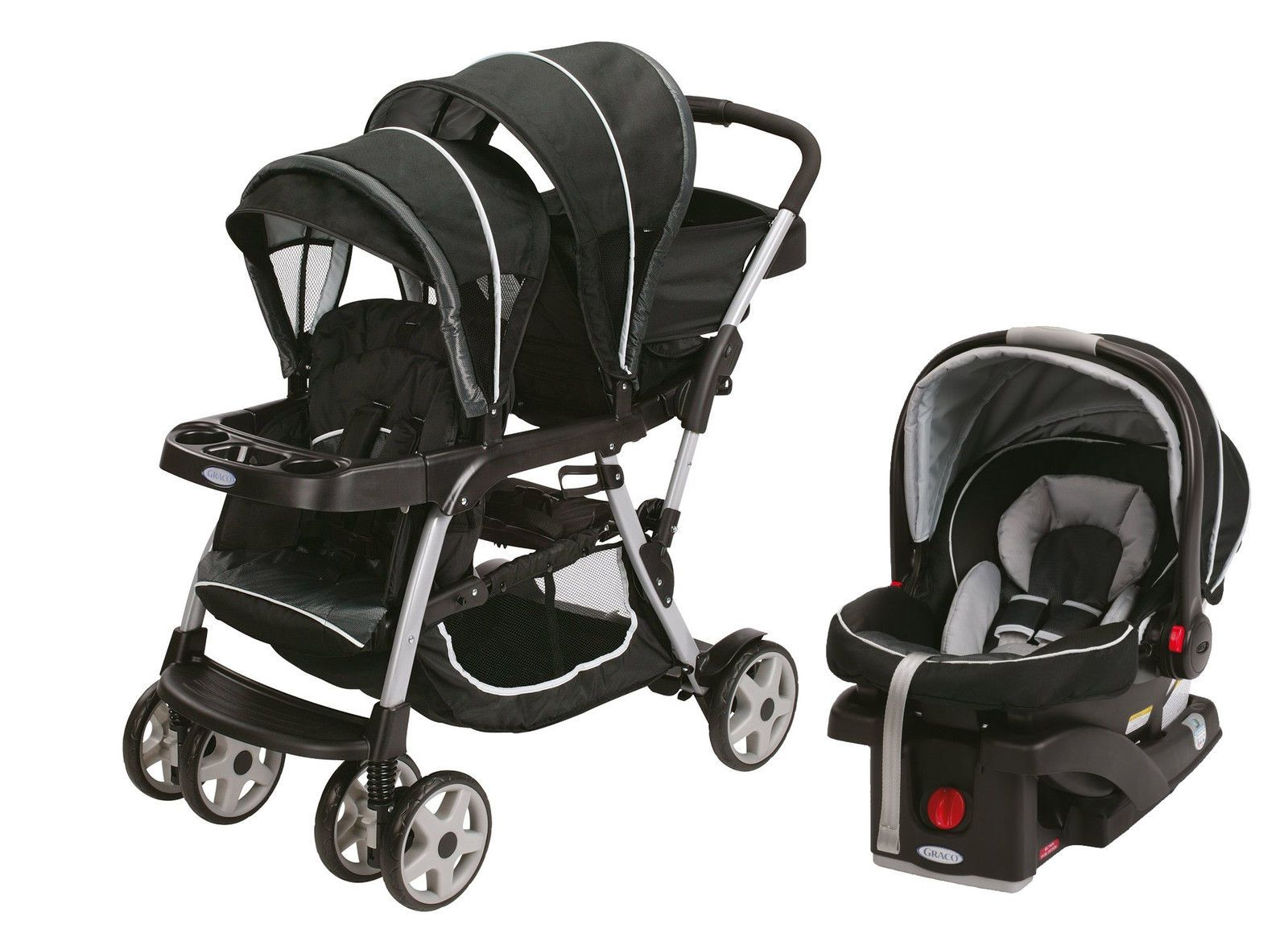 Graco Ready2Grow Lx Duo Double Baby Stroller + Car Seat