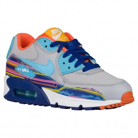 nike air max 90 hyperfuse orange and grey,Nike Air Max 90 - Boys' Grade  School - Running - Shoes - Wolf Grey/Clearwater/Univ G