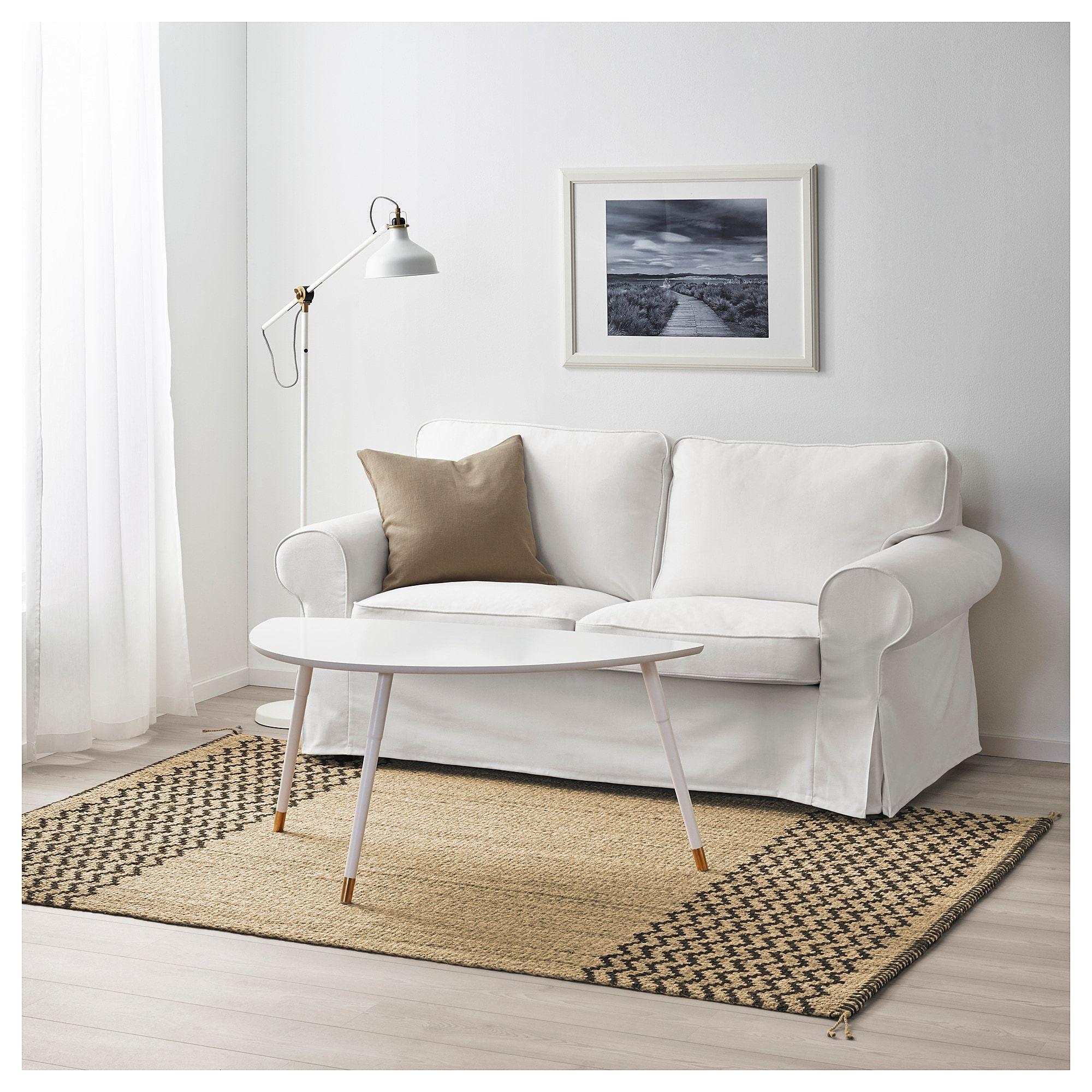Lavare Tappeto Lana Ikea lÖnholt tappeto, tessitura piatta - naturale, marrone scuro
