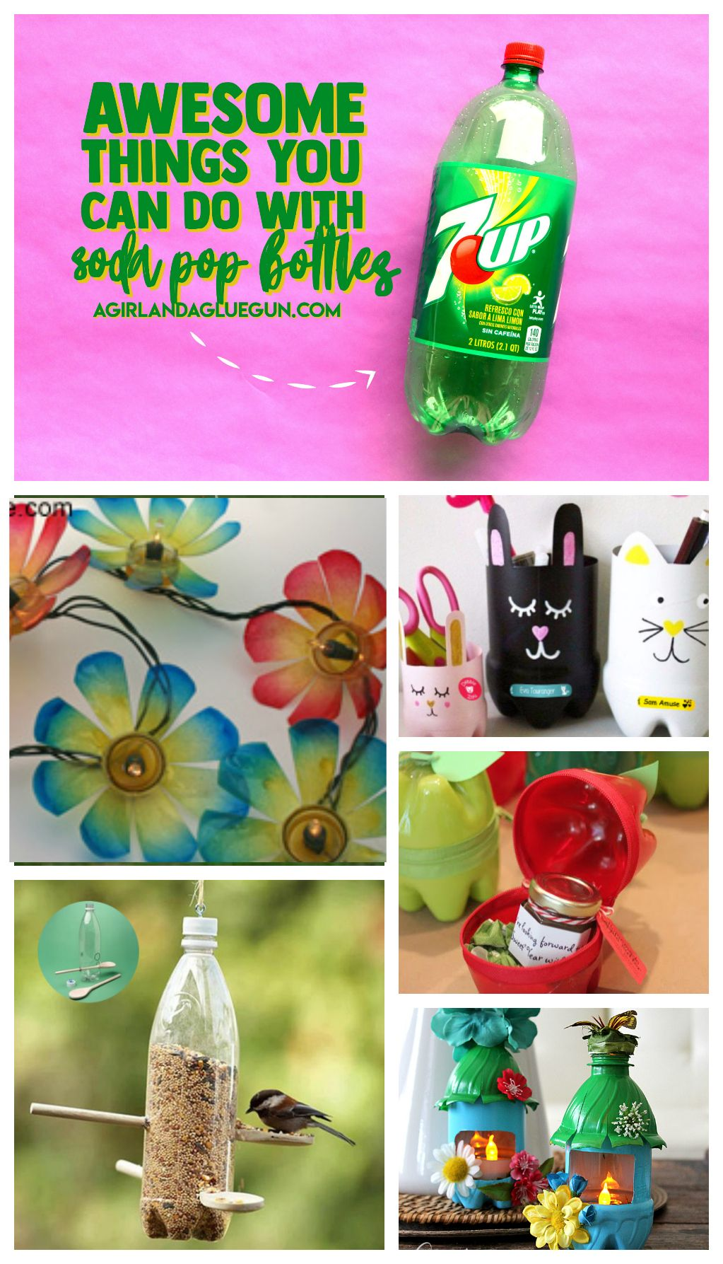 What To Do With Plastic Pop Bottles Water Bottle Crafts Diy