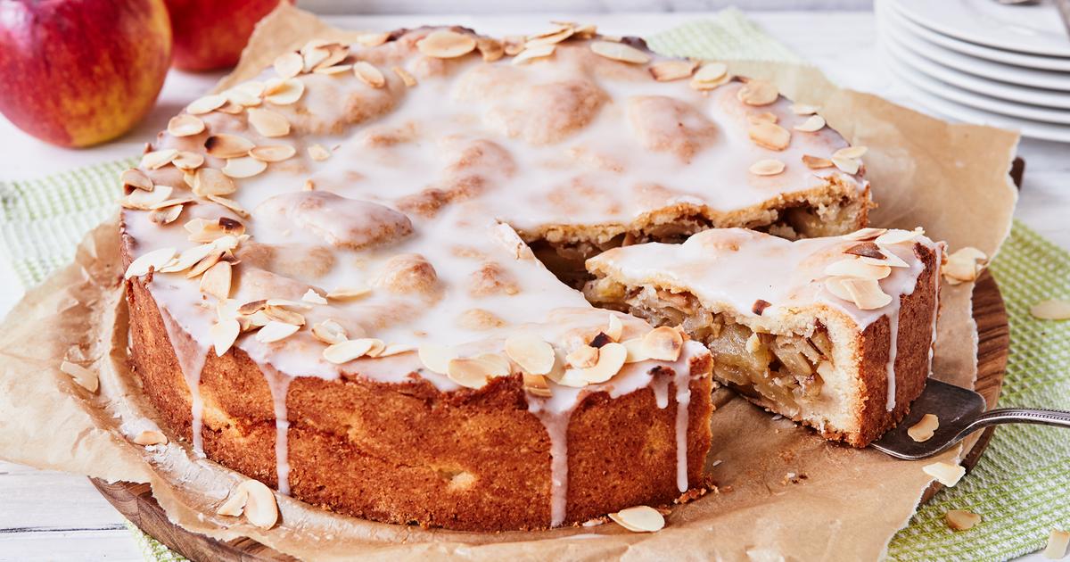 Gedeckter Apfelkuchen - Rezept wie vom Bäcker   Die besten Backrezepte mit Gelinggarantie