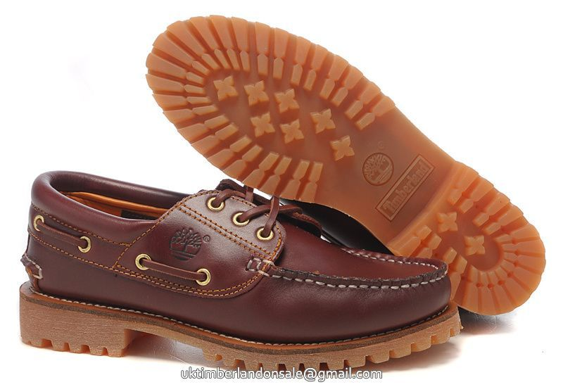 fa497ccdf0bf UK Authentic Timberland Men Icon 3-Eye Lug Boat Shoes Burgundy £ 73.59
