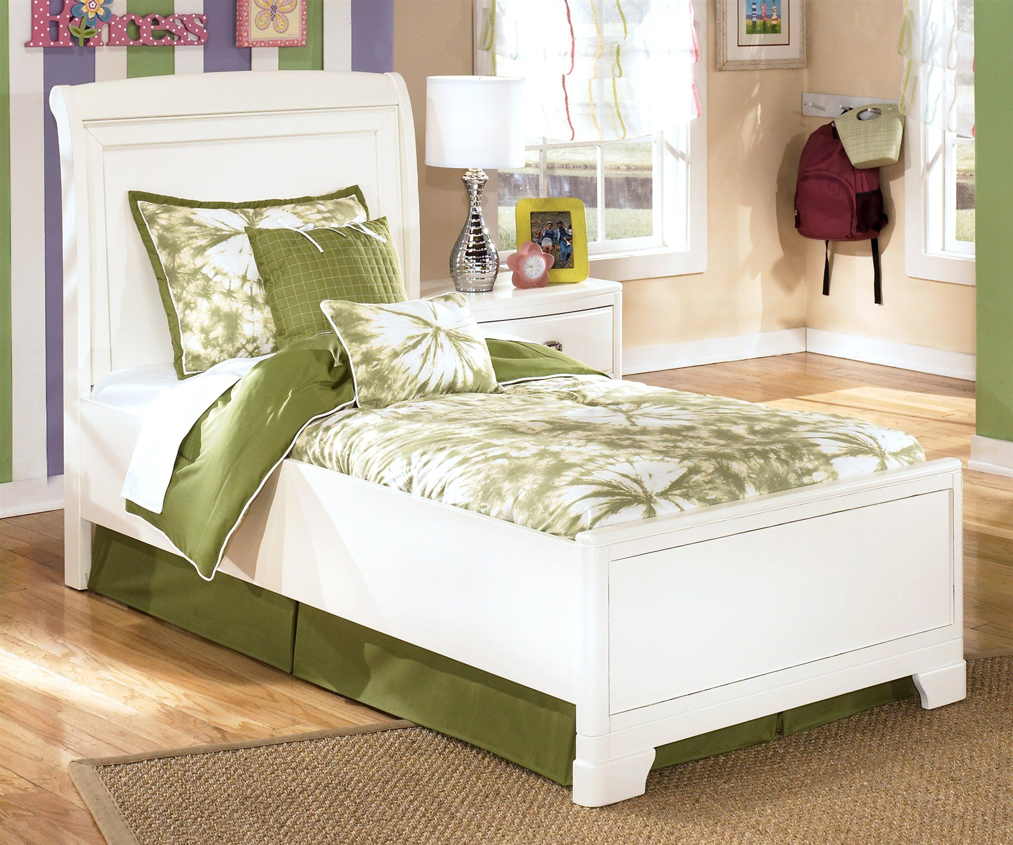 Cheap Signature Design by Ashley Twin Sleigh Bed in White