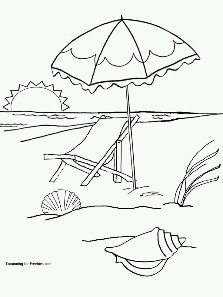 Pin By Yoon Soh On Beach Related With Images Beach Coloring