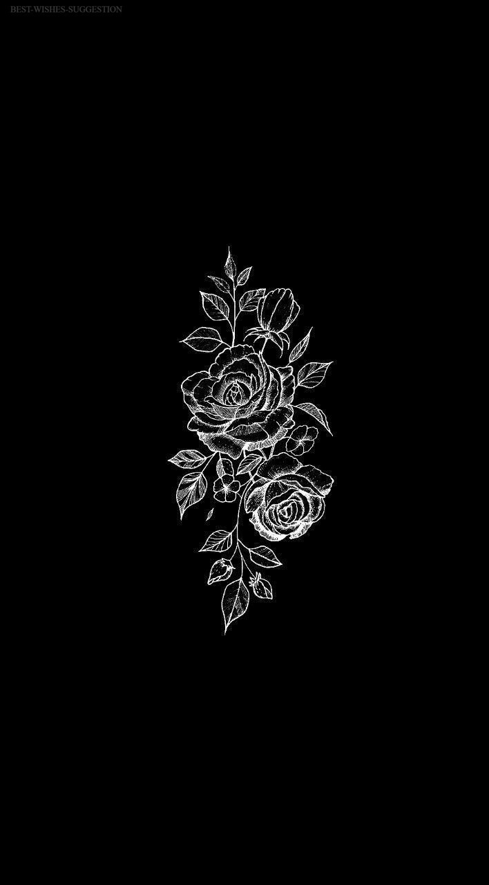 In case anyone else gets in this mood like i do, i put together 45+ of my. Iphone Aesthetic Edgy Wallpaper in 2020 | Black flowers ...
