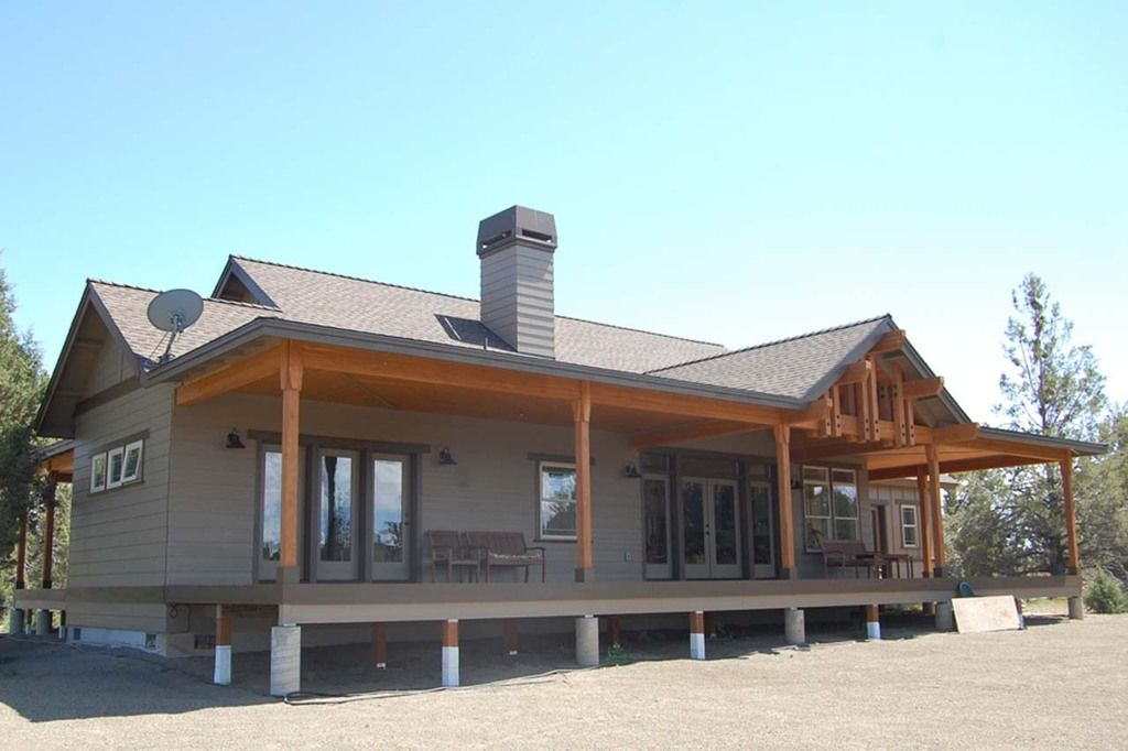 Traditional american ranch style home hq plans pictures for Steel building home designs