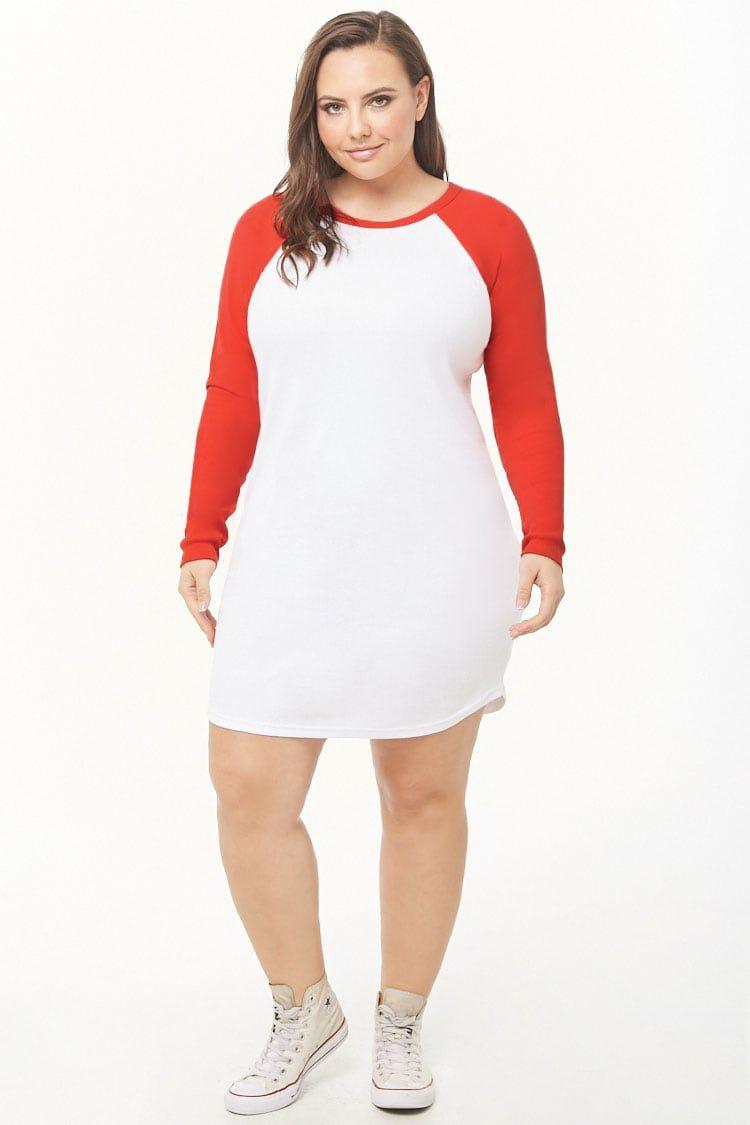 5271501a59 Plus Size Baseball T-Shirt Dress in 2019