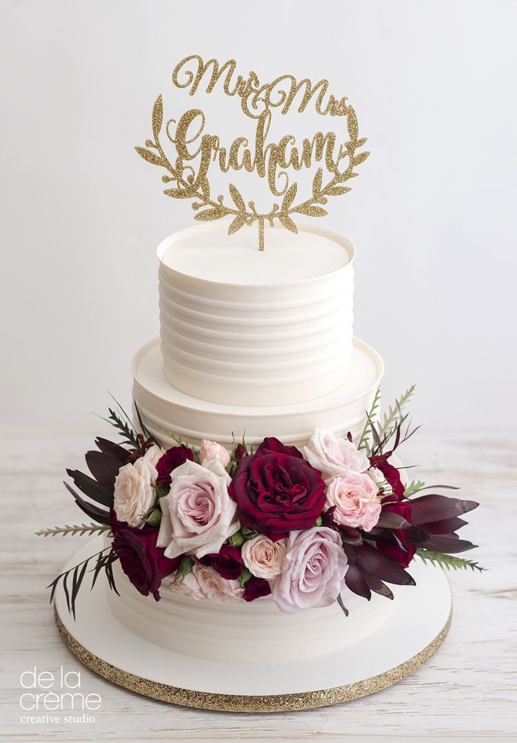Maroon and cream wedding decor  Ivory Stripe with Rich Blooms MaroonWeddingIdeas  Maroon Wedding