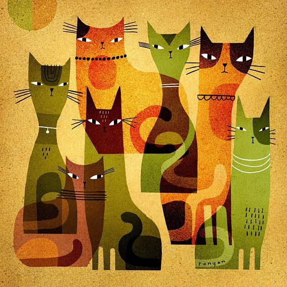 Highquality print of original artwork. Shop Etsy! Cat