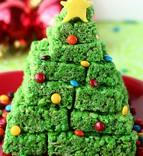 Krispie treat christmas tree candy trees diy christmas for Homemade edible christmas gift ideas for adults