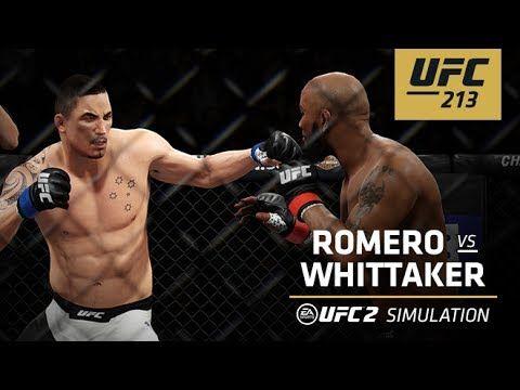 Ufc Ultimate Fighting Championship Ufc 213 Ea Sports Ufc 2 Simulation Romero Vs Whittaker Ea Sports Ufc Ufc Ufc 2