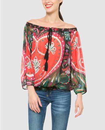 desigual blouse dames