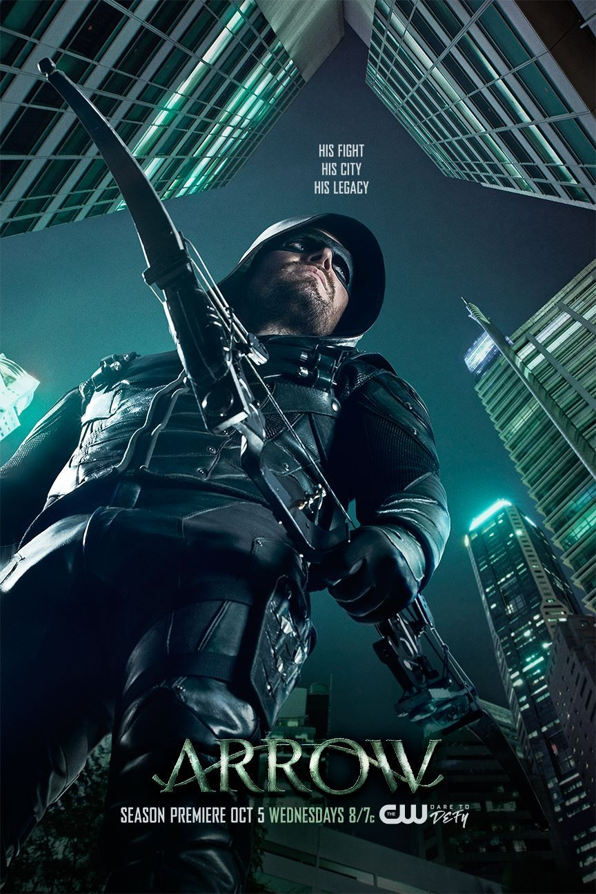 Oliver Queen Surveys Star City In Arrow Season 5 Poster Arrow Tv