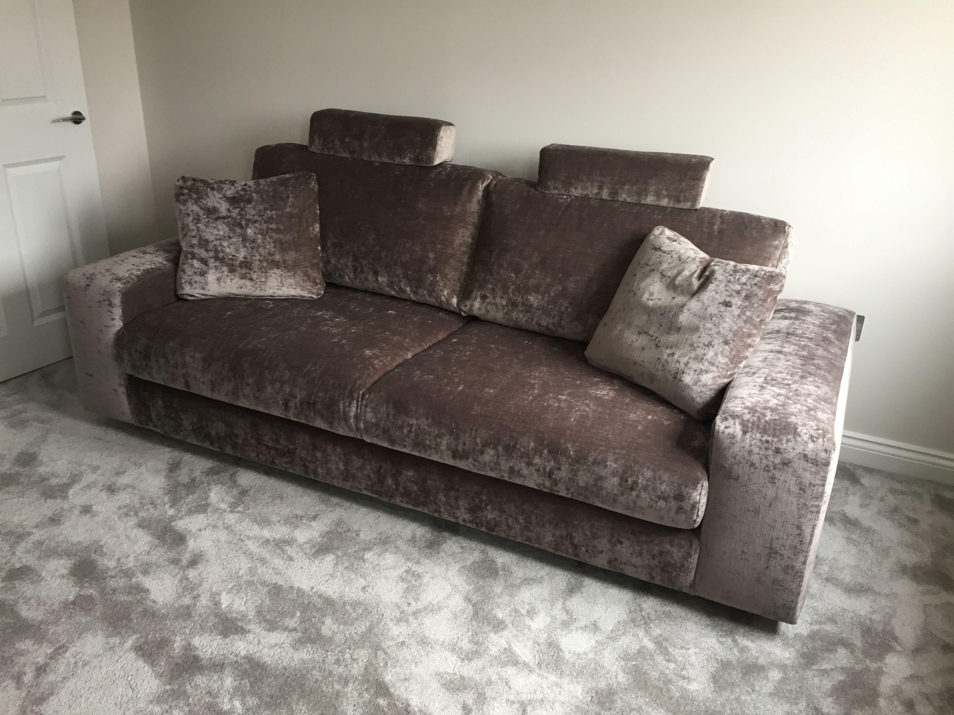 235 Cm Sofa Covered In J Brown Modena 13098 Mink. Nice!