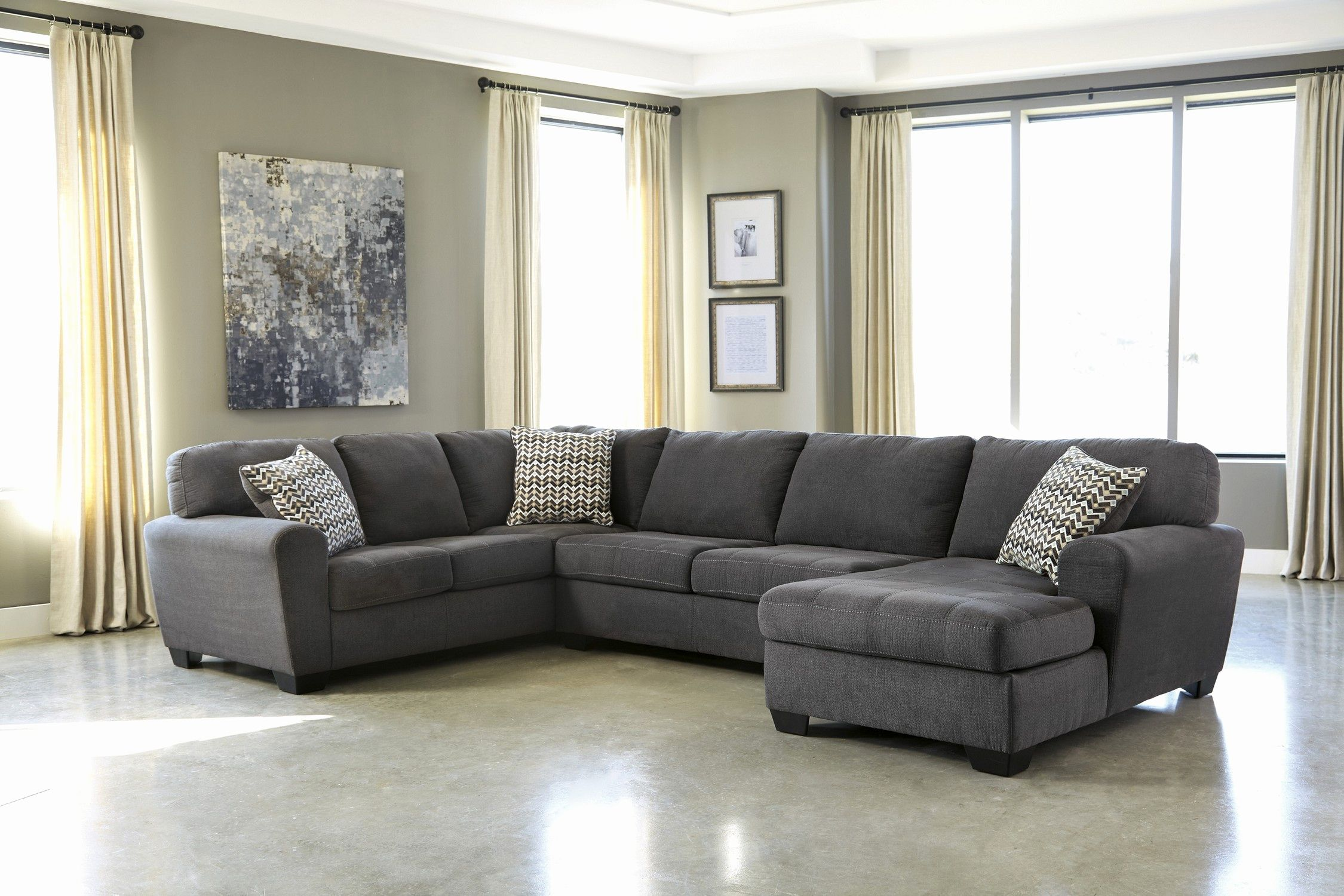 Unique Charcoal Gray Sectional Sofa With Chaise Lounge Pictures