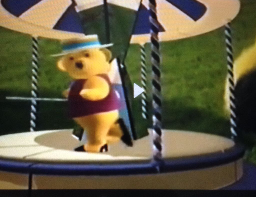 dancing bear from teletubbies childhood pinterest