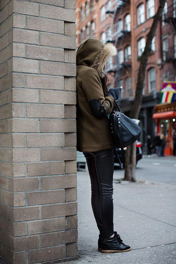 Marant kicks and leather leggings, LOVE IT!!!!!
