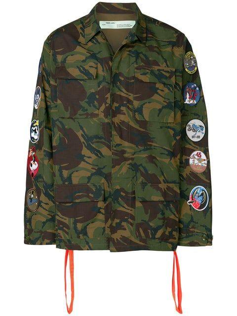 63516efca5c07 Off-White camouflage arrows jacket | Diesel Punk in 2019 | Jackets ...