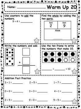 180 Days Of Math Warm Ups 1st Grade Edition 1st Grade Math Worksheets Super Teacher Worksheets Teacher Worksheets Math