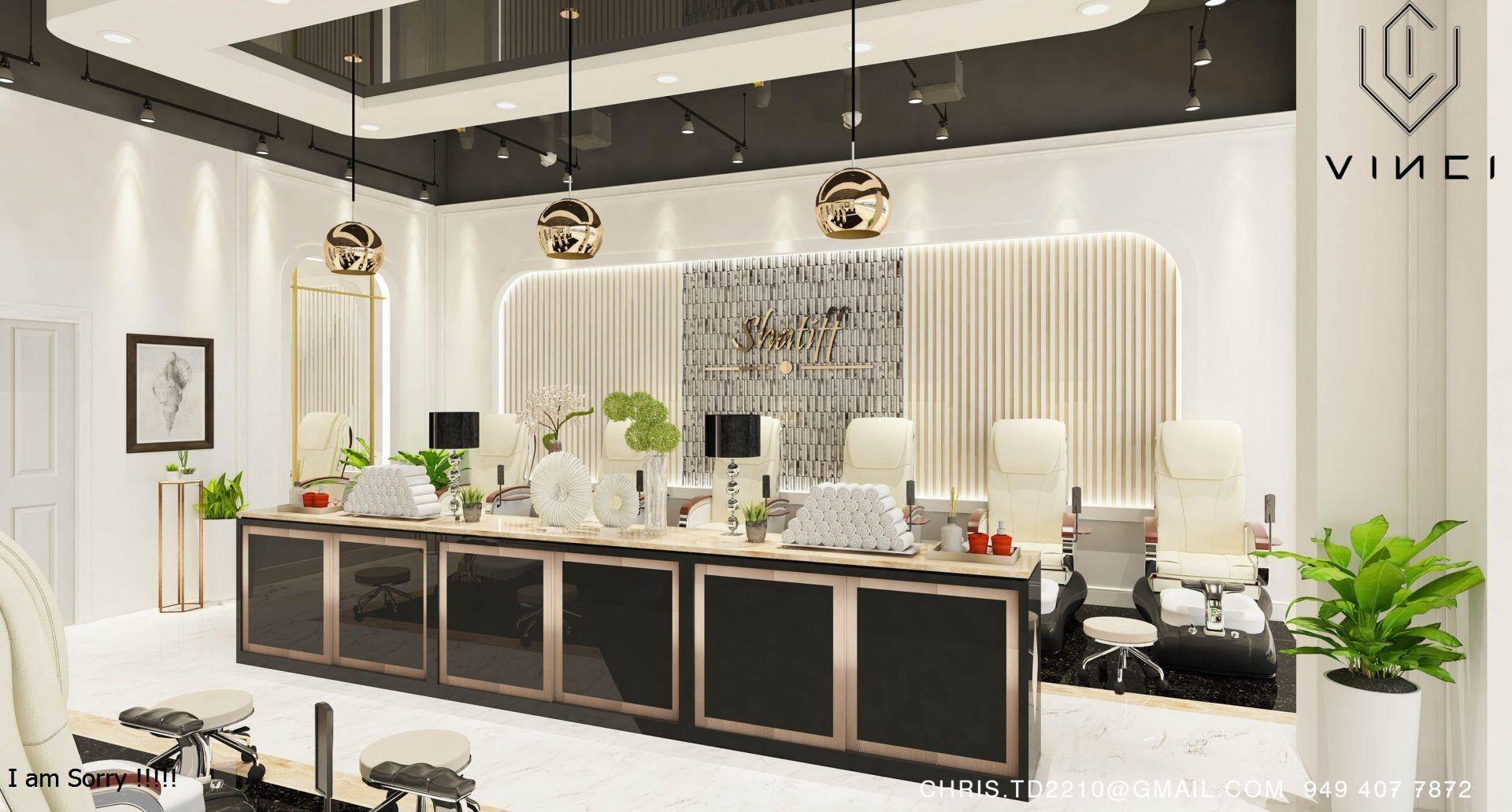 Luxury Nail Salon In 2020 Spa Lounge Salon Interior Design Nail Salon Interior Design