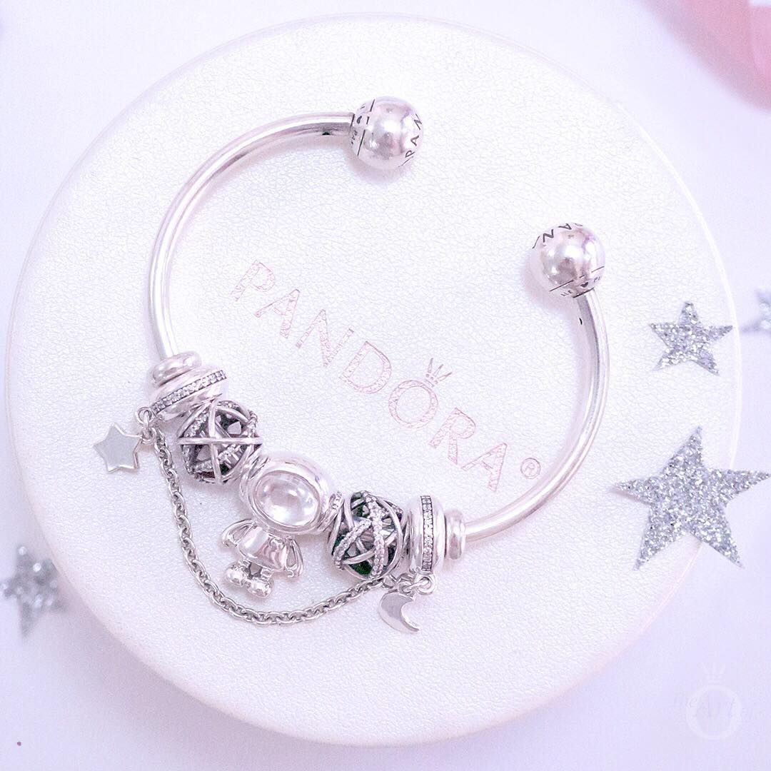 88e2d589e PANDORA Bangle with Cosmo Tommy and sterling silver charms ...