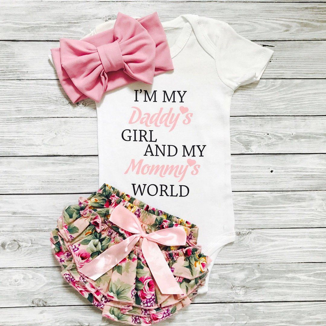 3-18M Newborn InfantBaby Girls Letter Print Daddy/'s Princess Shirt Tops Outfits