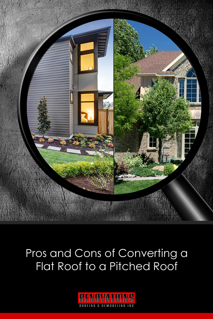 Pros And Cons Of Converting A Flat Roof To A Pitched Roof Flat Roof Residential Roofing Commercial Roofing