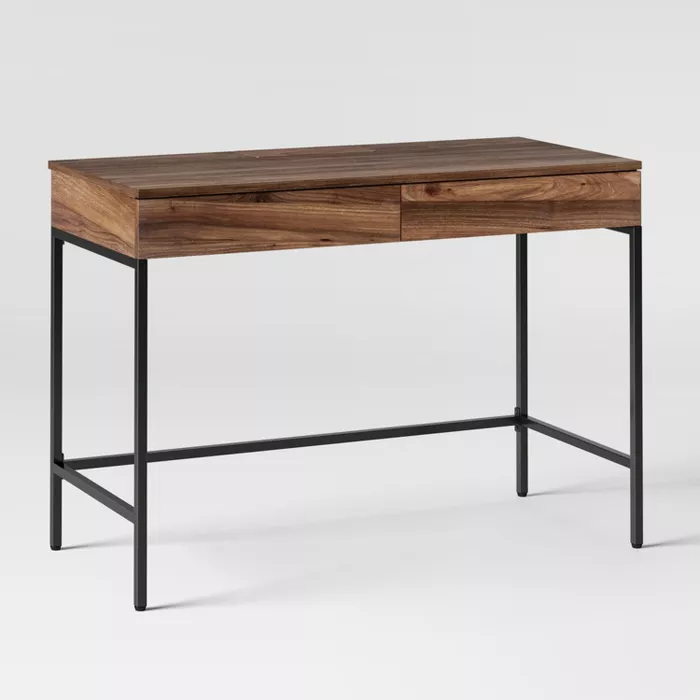 Loring Wood Writing Desk With Drawers Project 62 In 2020 Wood Writing Desk Desk With Drawers Writing Desk With Drawers