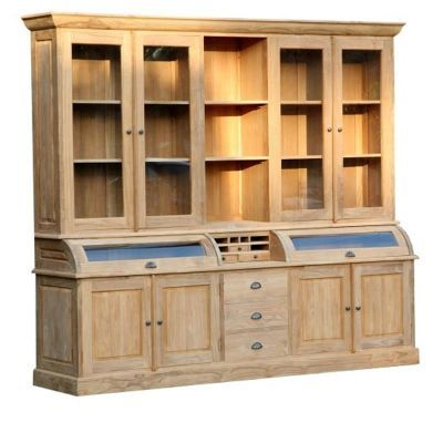 Vaisselier Interiors bibliothèque en bois teck 257x56x223cm bromo, vaisselier | кухня