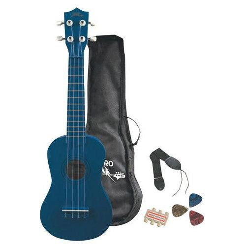 Soprano Ukulele Mini Guitar Starter Package All Ages - Blue