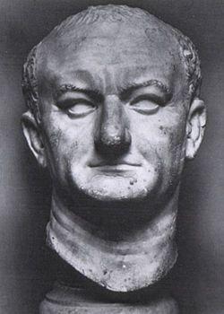 Ritratto di Vespasiano; I secolo (70) a.C.; marmo; da Ostia; Museo Nazionale Romano, Roma.