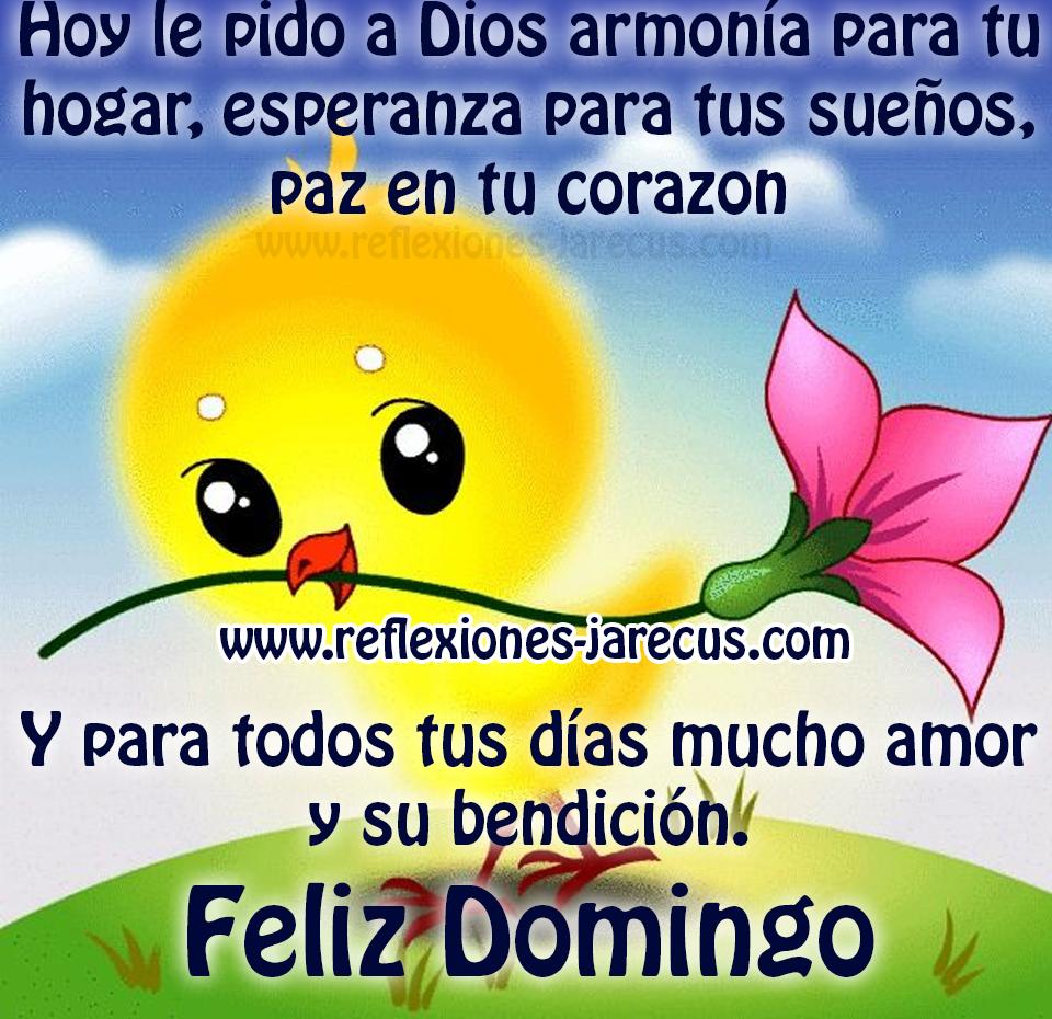 Hoy Le Pido A Dios Armonia Para Tu Hogar Feliz Domingo Feliz