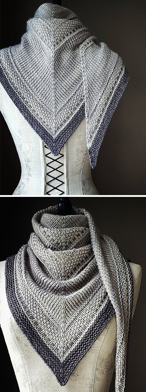 Simply Shawl - Knitting Pattern  #knittinginspiration