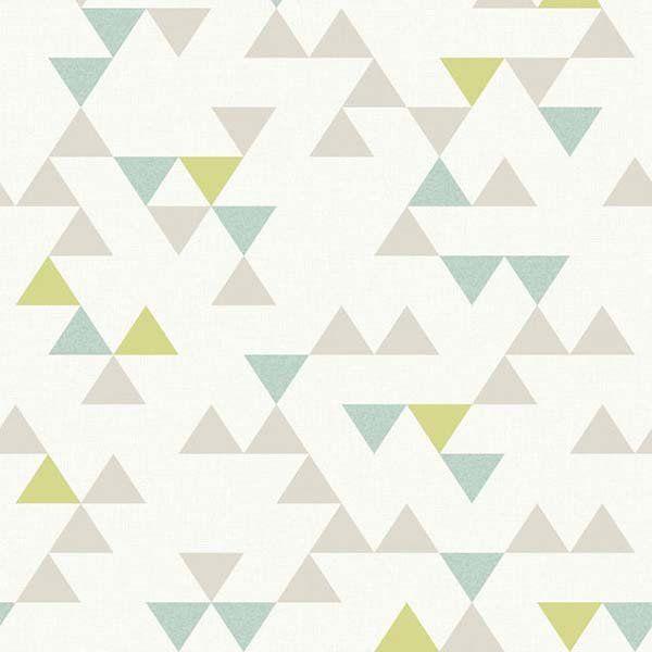 Galerie Wallpaper Deco4walls Unplugged Segment Teal Lime Un3105