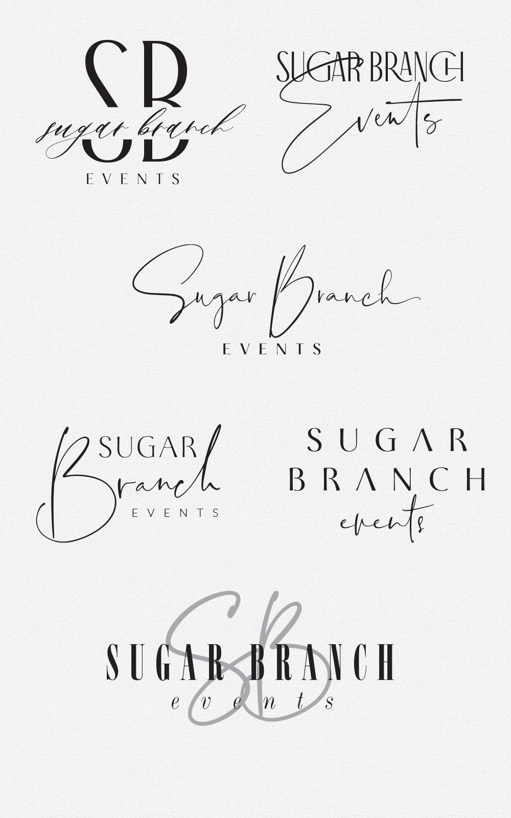 Sugar Branch Events | Fancy Girl Designs
