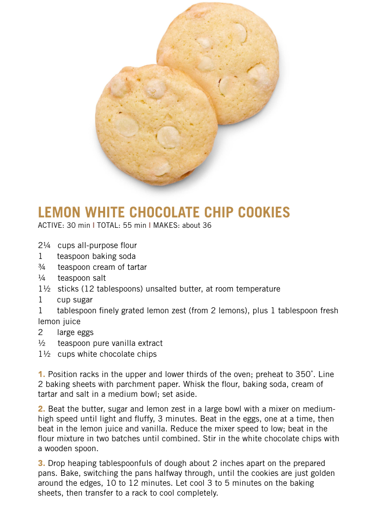 Lemon white chocolate chip cookies from food network magazine food lemon white chocolate chip cookies from food network magazine forumfinder Choice Image