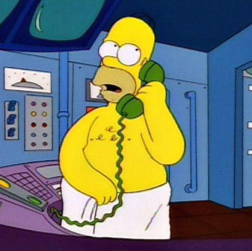 """""""You'll have to speak up, i'm wearing a towel."""""""