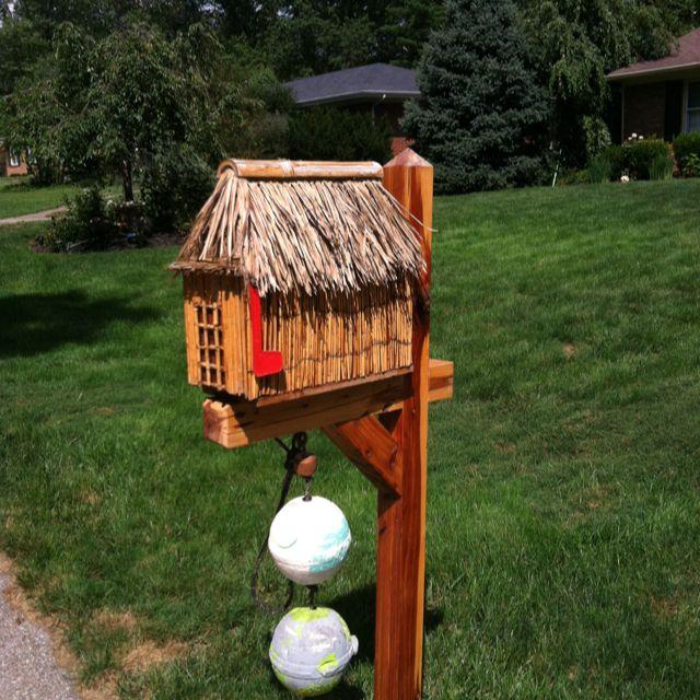 cute tiki mail box home