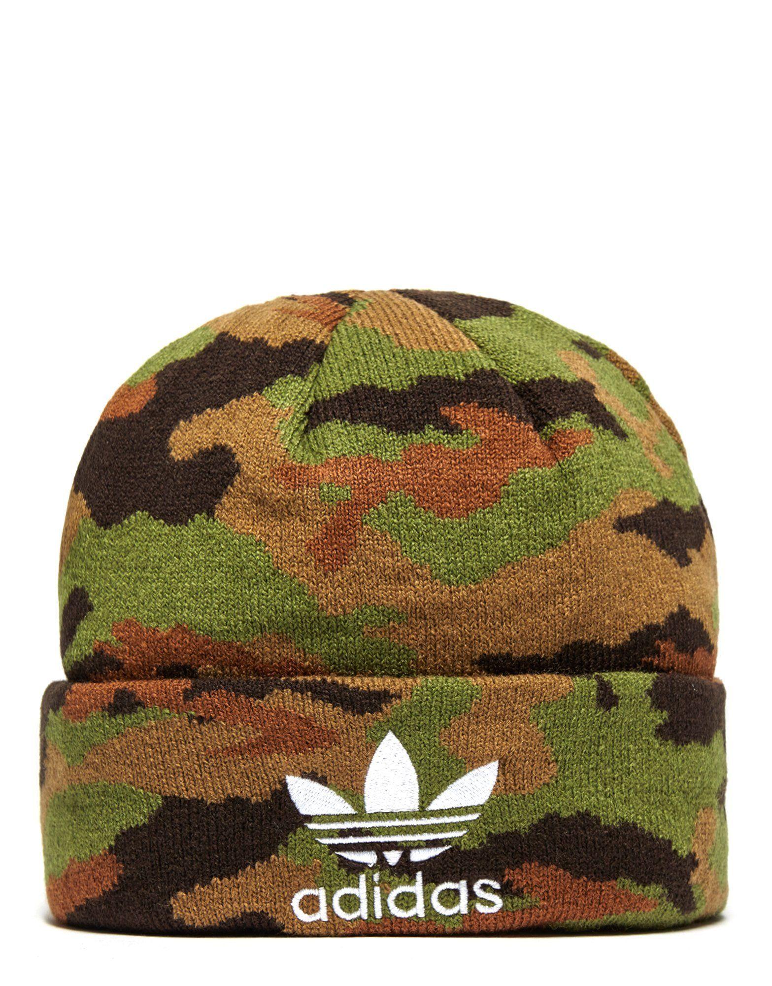 0fdb9a3d9 adidas Originals Camouflage Beanie Hat | JD Sports | Adidas | Beanie ...