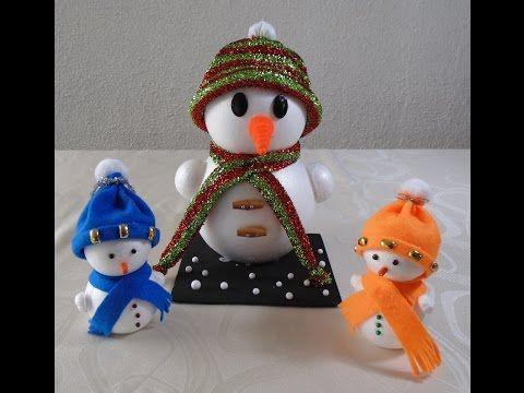 Manualidades de navidad c mo hacer un mu eco de nieve - Como hacer un muneco ...