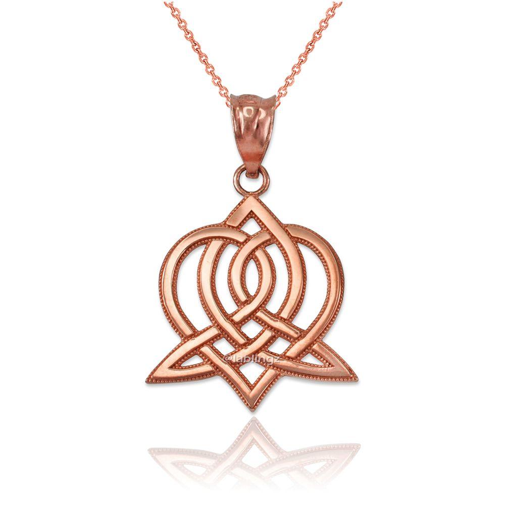 LA BLINGZ 10K Rose Gold Farvahar Womens Pendant