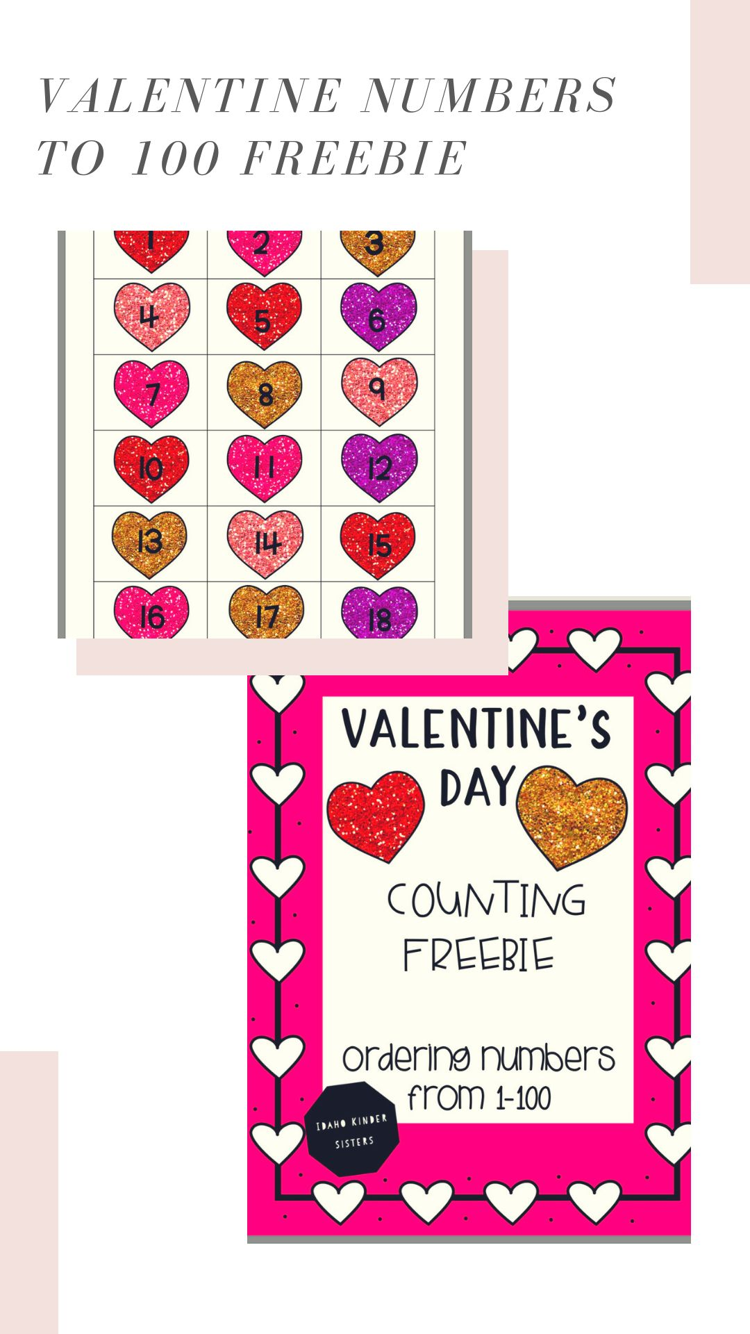 Valentine S Day Counting To 100 Number Order Freebie
