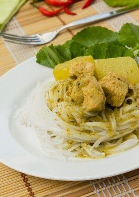 Le Fitchef: spaghetti di shirataki con curry di tacchino e patate dolci