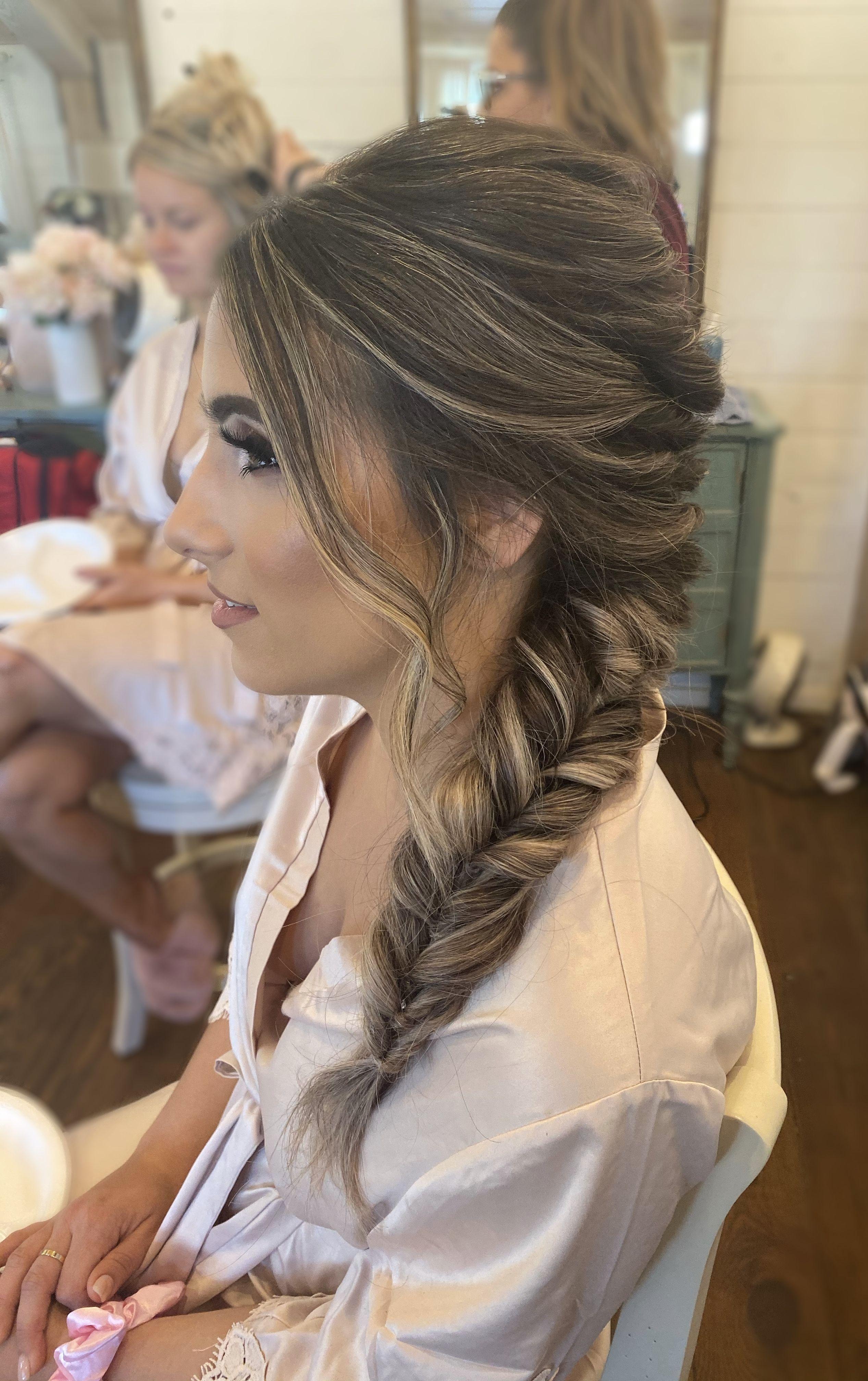 Wedding Hairstyle In 2020 Bridesmaid Hair Braid Bridesmaid Hair Braided Hairstyles For Wedding